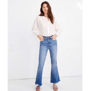Madewell rigid flare jeans Dempsey blue new